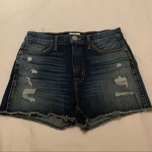 Hudson high waisted denim cut off shorts size 28